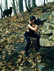 Lara Croft and an enemy by TanyaCroft