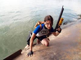 Lara Croft SOLA with harpoon by TanyaCroft