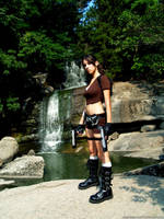 Tomb Raider Legend - waterfall by TanyaCroft