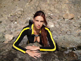 Lara Croft wetsuit - portrait by TanyaCroft