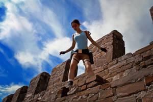 Lara Croft - on the edge by TanyaCroft