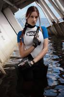 Lara Croft SOLA wetsuit - dangerous girl by TanyaCroft