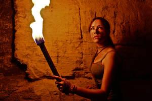 Lara Croft REBORN cosplay - torch by TanyaCroft