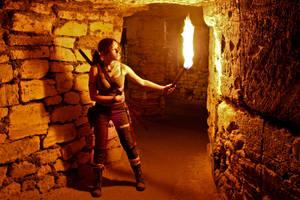 Lara Croft REBORN cosplay - exploring catacombs by TanyaCroft