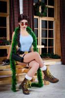 Christmas Lara Croft cosplay - gaze by TanyaCroft