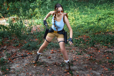 Lara Croft CLASSIC cosplay - WeGame 2-4 by TanyaCroft