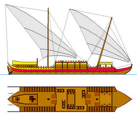 Imperial Dromon - fantasy ship concept (colored) by oldschoolitems