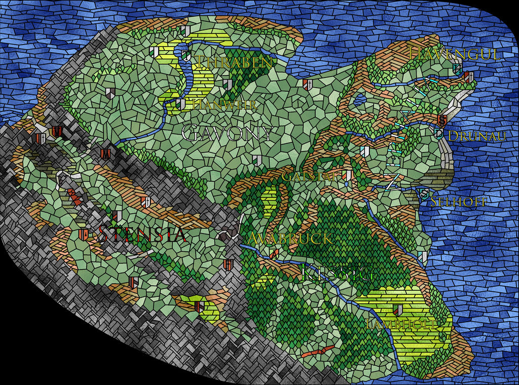 Innistrad stained glass map - normal version by oldschoolitems