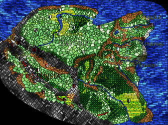 Innistrad stained glass map - vivid version by oldschoolitems