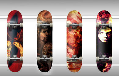 Skate Deck designs by CR-Graphics