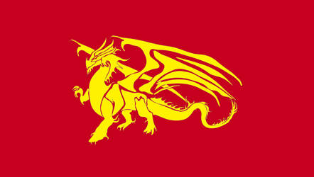 Draconic Socialist Flag by TheCommunistDragon