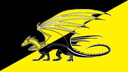 Draconic Anarcho-Capitalist Flag by TheCommunistDragon