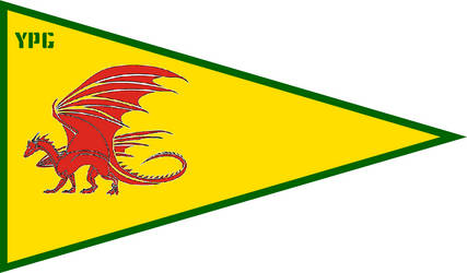 Draconic YPG Flag by TheCommunistDragon