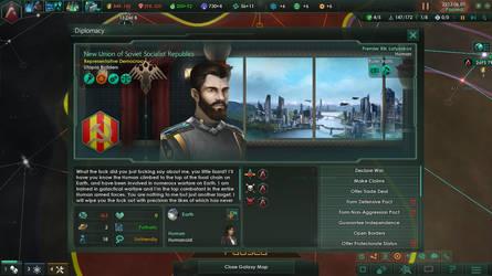 I piss off Premier Rik Latyeskov in Stellaris 1/4 by TheCommunistDragon
