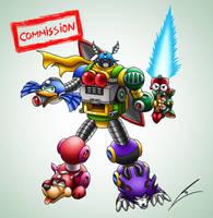 Commission: Megaman Zord by borockman