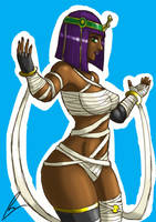 Battle Menat in color by borockman