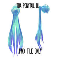 [MMD DL] Ponytail Hair by Destiny7865