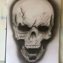 evil skull by proppadroppa