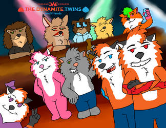 The Dynamite Twins and Friends - Promo Image 2014 by JWthaMajestic