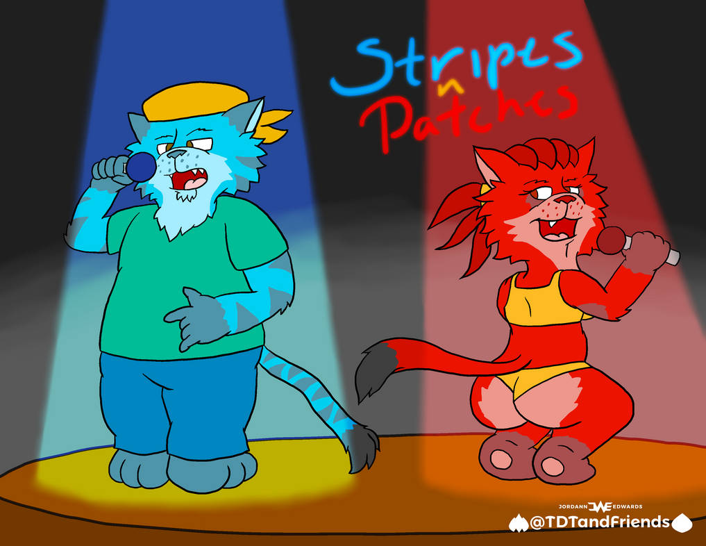 Stripes and Patches on stage by JWthaMajestic