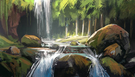 Cave Encounter - Speed paint by surendrarajawat