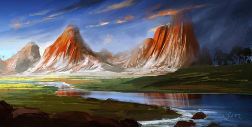 Range- speed painting ( Real time video tutorial) by surendrarajawat