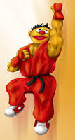 Sesame Street Fighter: Kernie by gavacho13