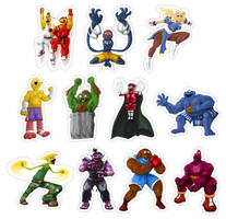 Sesame Street Fighter Stickers by gavacho13
