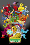 Super Sesame Street Fighter Poster by gavacho13