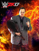 Custom Jim Cornette WWE 2K17 Render Poster by DarkVoidPictures