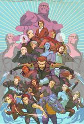 XMen  Days of Future Past full team by DaveRapoza