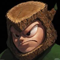 WoodMan - MegaMan 2 by DaveRapoza