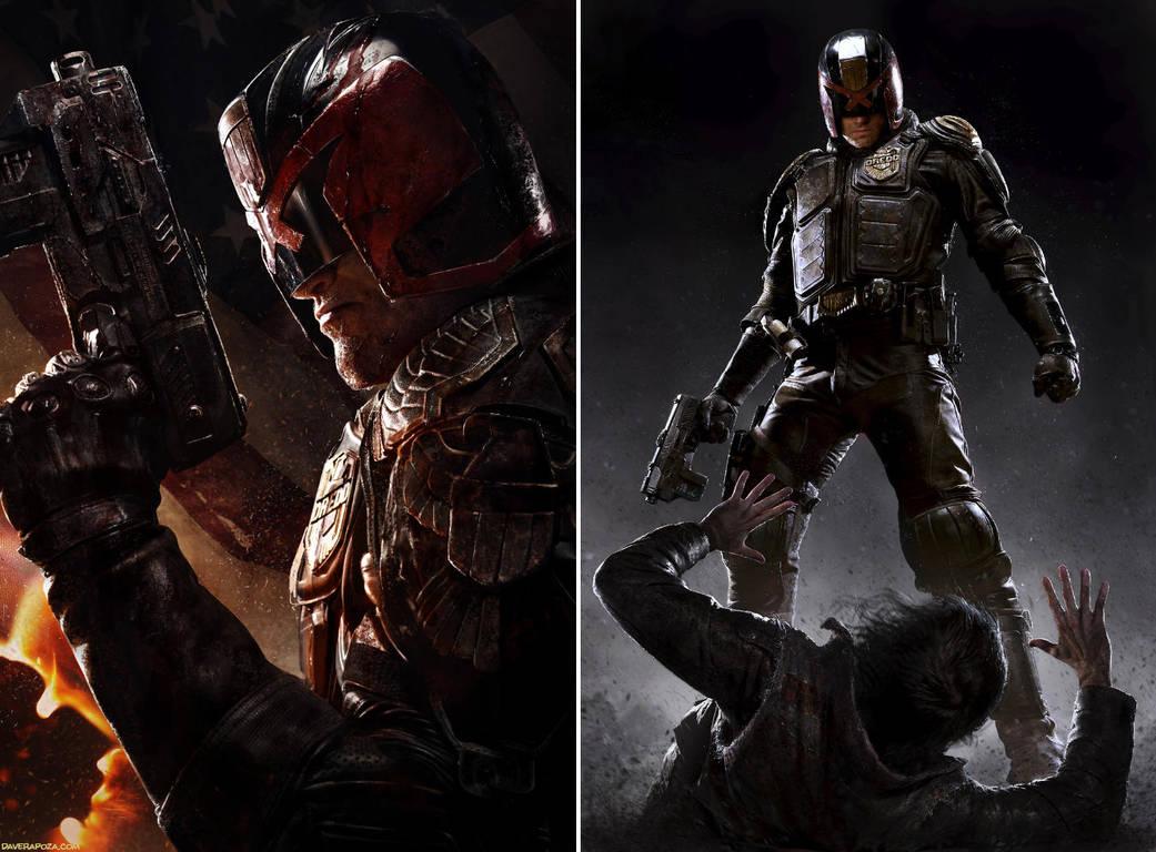 Judge Dredd - Movie Poster by DaveRapoza