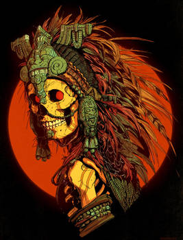 Aztec Skeleton by DaveRapoza