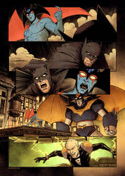 Devilman vs Batman pg 1! by DaveRapoza