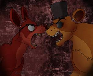 Foxy V.S. Freddy by Koili
