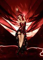 Burlesque Latex Dress by AmatorisLatexCouture