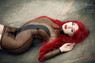 Miss Loulou Latex-Dress Kl0021 by AmatorisLatexCouture