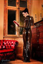ScaryMissMary Latex-Gown (Black-Smoky-Back) by AmatorisLatexCouture