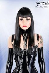 Black Widow Latex-Corset by AmatorisLatexCouture