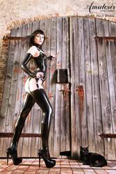 Black Widow Latex-Corset 2 by AmatorisLatexCouture
