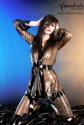 Black Widow Latex-Kimono (gown) 2 by AmatorisLatexCouture