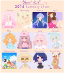 2016 Summary of Art by YumiKF