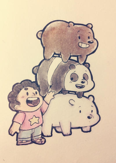 And I also imagine the bears would do the same thing to Steven if he was Chloe      follow me on Tumblr for more fun stuff guys : www.tumblr.com/blog/stick2mate  ...