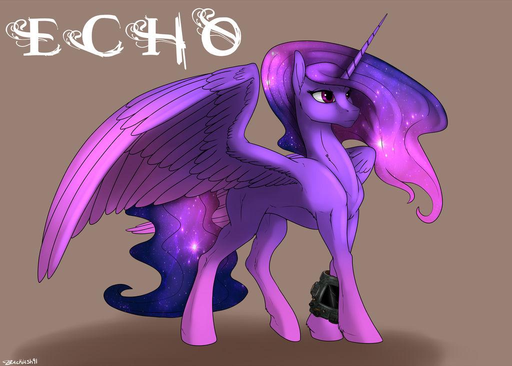 Echo the alicorn by Backlash91