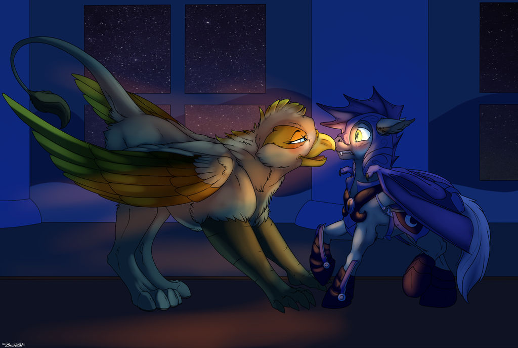 Between A Bat And Birb by Backlash91