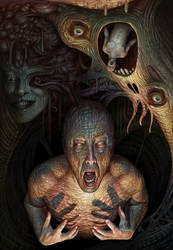 Psychic decay portrait by AlMaNeGrA