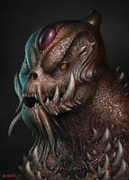 Fangy monster by AlMaNeGrA