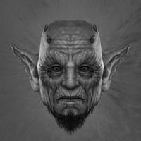 Devil head sketch 1 by AlMaNeGrA