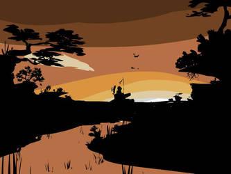 Sunset Tank by le-mec